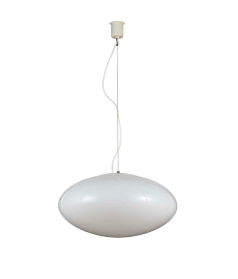 Italian metal and glass ceiling lamp