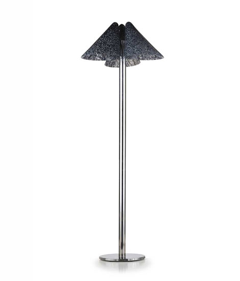 Metal and Murano glass floor lamp