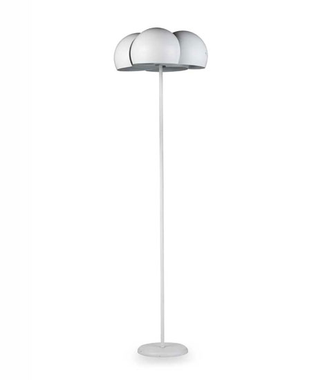 "Laquered metal floor lamp ""Giunone"""
