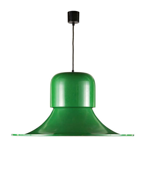 Laquered metal ceiling lamp