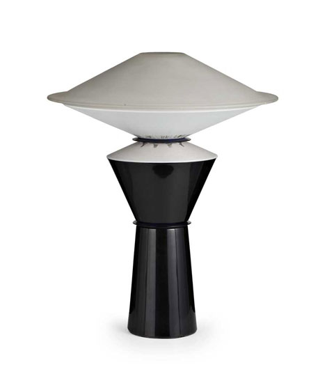 "Metal and glass table lamp ""Giada"""