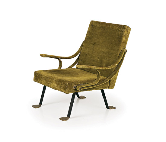 'Digamma' adjustable upholstered armchair