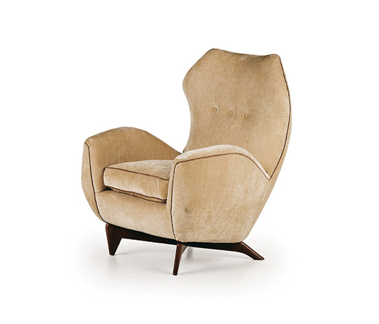 Italian upholstered armchair di Wannenes Art Auctions