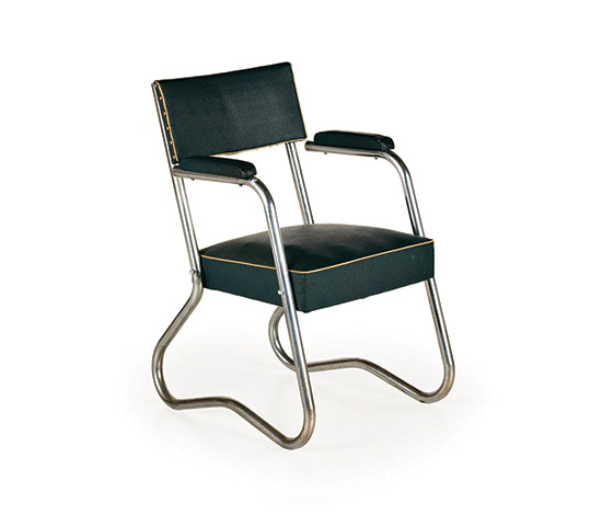 Wannenes Art Auctions-Pair of chrome-plated steel armchairs