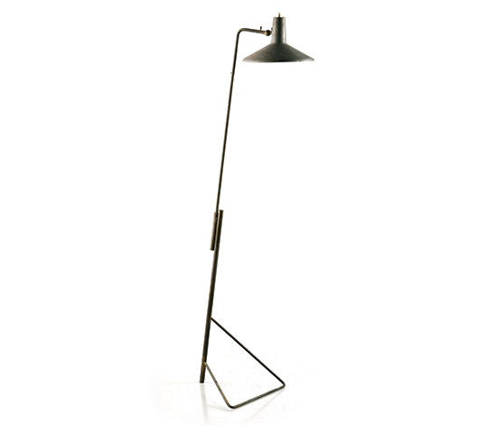 Brass and aluminum floor / wall lamp von Wannenes Art Auctions