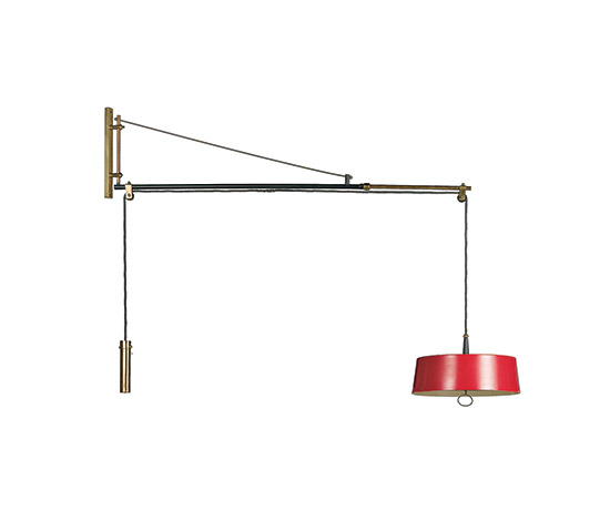 Brass and aluminum wall lamp
