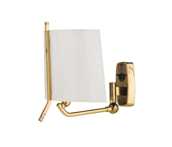 Pair of brass and perspex sconces