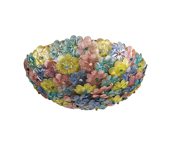 Murano glass ceiling lamp de Wannenes Art Auctions