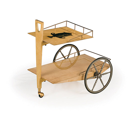 Wannenes Art Auctions-Trolley, vellum over wood structure