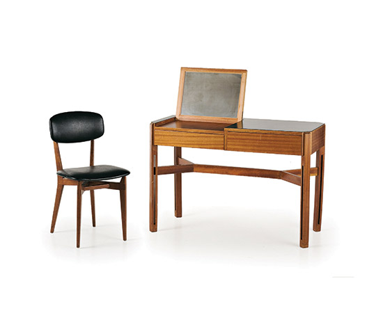 Wannenes Art Auctions-Mahogany vanity with Cassina chair