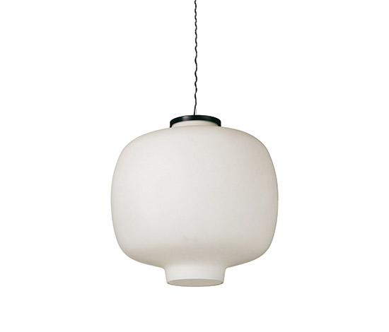 Glass and aluminum ceiling lamp