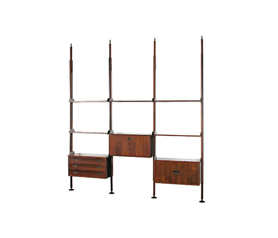 Wannenes Art Auctions-Rosewood shelving system