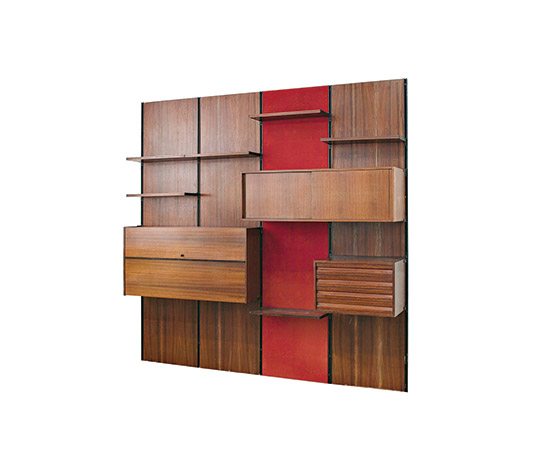 Wannenes Art Auctions-'E22' rosewood shelving system