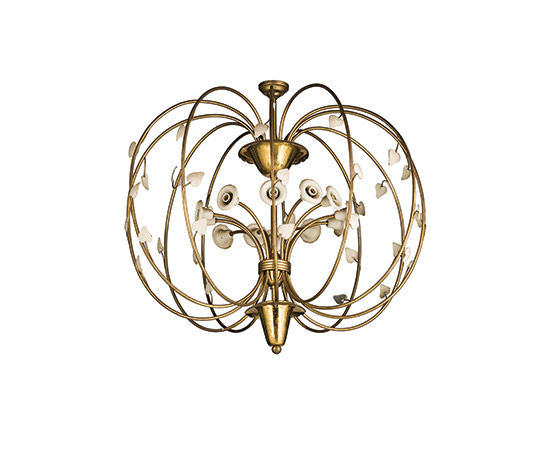 Brass ceiling lamp de Wannenes Art Auctions
