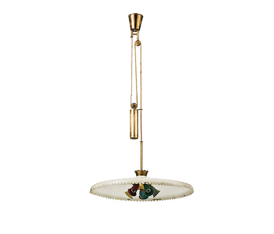 Brass and aluminum ceiling lamp