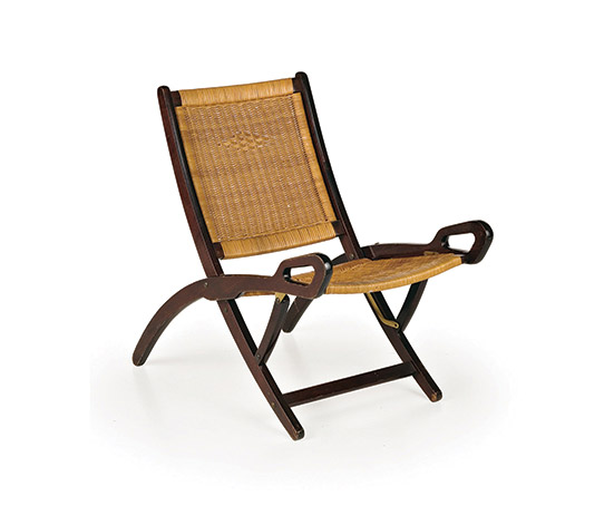 Wannenes Art Auctions-Pair of 'Ninfea' mahogany folding chairs