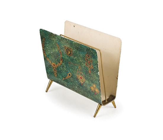 Wannenes Art Auctions-Aluminum and brass magazine holder
