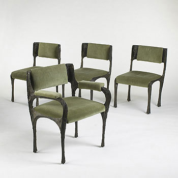 Dining chairs, set of eight