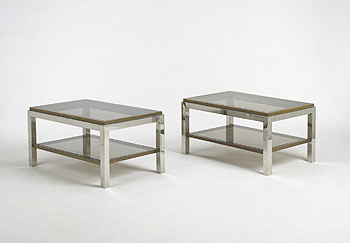 Coffee tables, pair