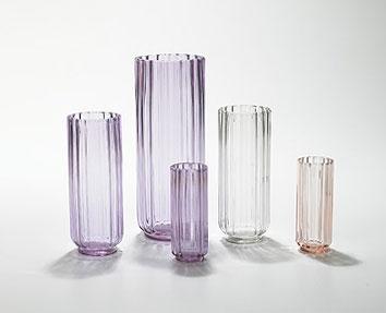 Lotus vases, set of five