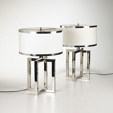 Table lamps, pair by Wright