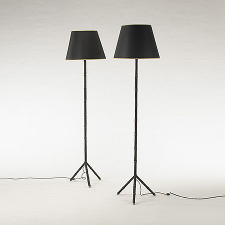 Floor lamps, pair