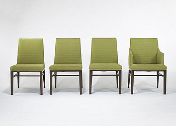 Dining chairs, set of eight de Wright