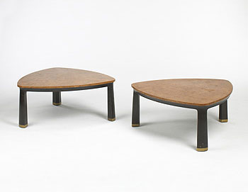 Wright-Coffee tables model 6129, pair