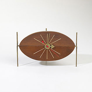 Watermelon table clock, model 2219 by Wright