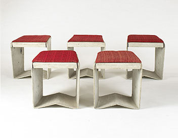 Stools, set of five