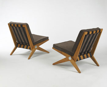 Scissor lounge chairs model 92, pair