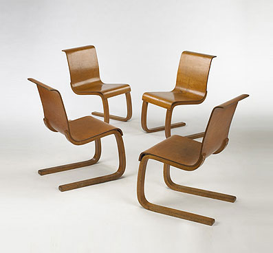 Cantilever dining chairs model 21