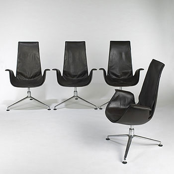 Bird chairs, set of four