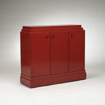 China-red lacquer cabinet