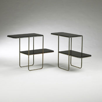 Two-tiered tables, pair