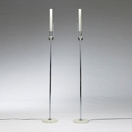 Tube floor lamps, pair
