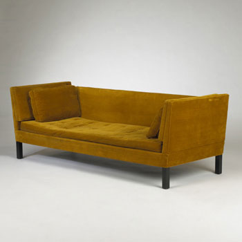 Drop arm sofa, model 6033
