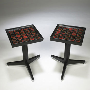 Wright-Tile Top tables, model no. 6047