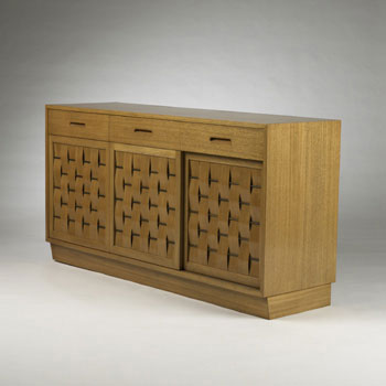 Woven Front cabinet, model no. 4453 de Wright