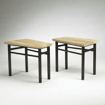 Wedge-Shaped end tables, model 5215