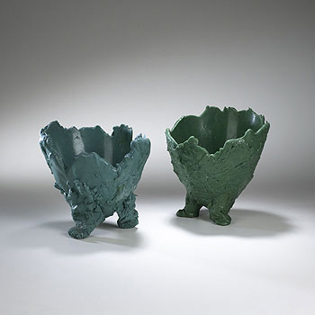 Lava vase, pair
