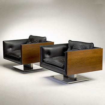 Lounge chairs, pair by Wright