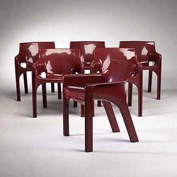 Gaudi armchairs, set of six