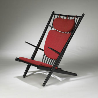 Sunburst lounge chair by Wright