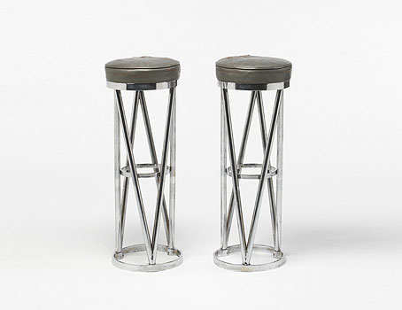 Bar stools, pair