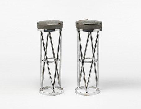 Bar stools, pair