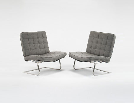 Tugendhat chairs, pair di Wright