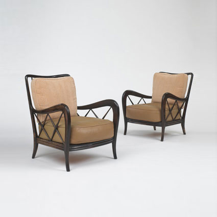 Lounge chairs, pair
