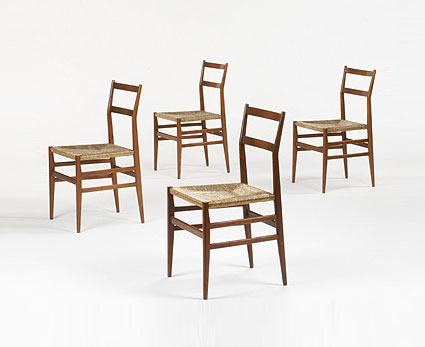 Leggera dining chairs, set of four