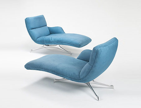 One-Arm Contour chaise by Wright